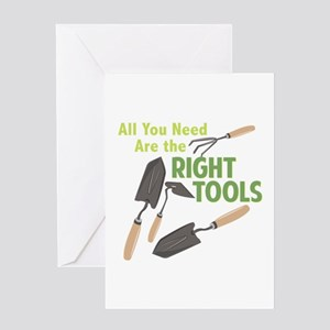 Right Tools Greeting Cards