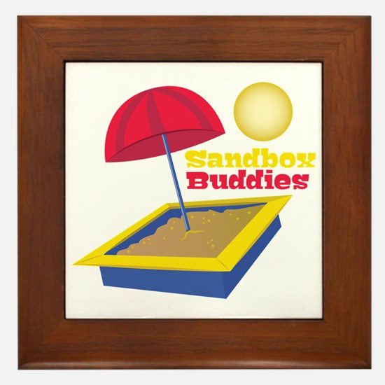 Sandbox Buddies Framed Tile