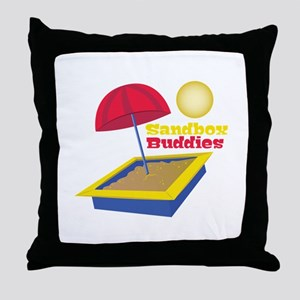 Sandbox Buddies Throw Pillow