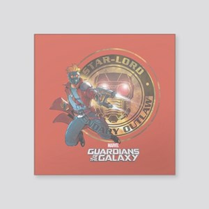 """Guardians of the Galaxy Sta Square Sticker 3"""" x 3"""""""