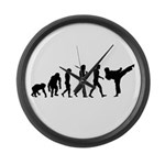 Martial Arts Evolution Large Wall Clock