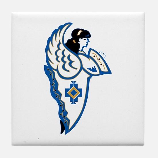 Unique Angel religion beliefs Tile Coaster