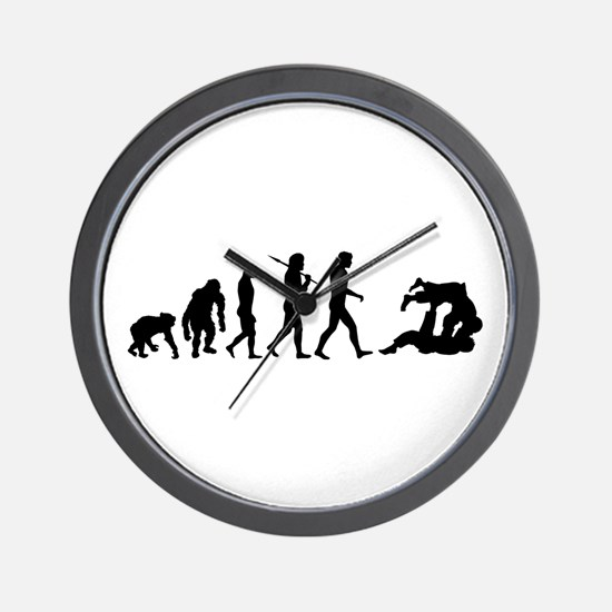 Evolution of Judo Wall Clock