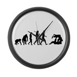 Evolution of Judo Large Wall Clock