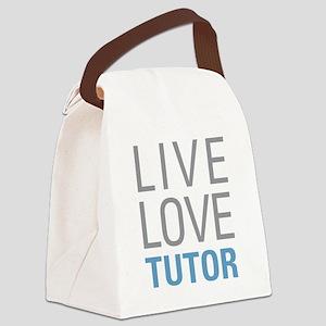 Live Love Tutor Canvas Lunch Bag