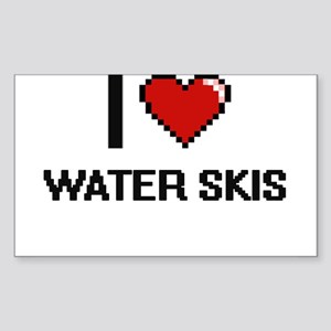 I love Water Skis digital design Sticker