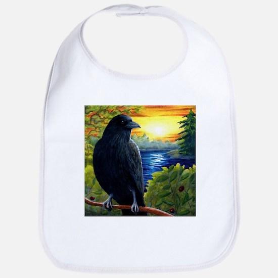 Bird 63 crow raven Bib