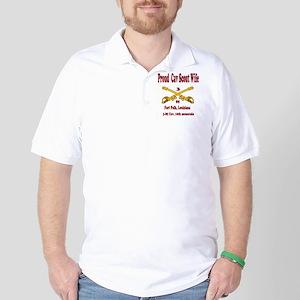 3-86 cav 1oth mount div wife Golf Shirt