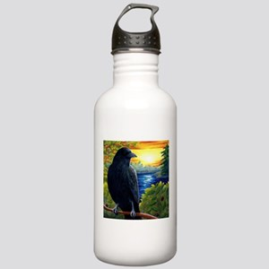 Bird 63 crow raven Stainless Water Bottle 1.0L