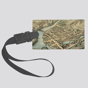 Vintage Pictorial Map of Birming Large Luggage Tag