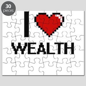 I love Wealth digital design Puzzle