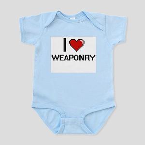 I love Weaponry digital design Body Suit