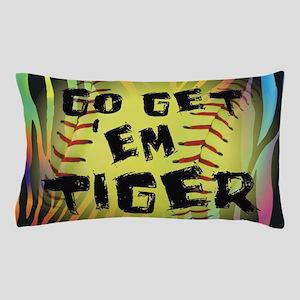 Go Get Em Tiger Softball Motivational Pillow Case