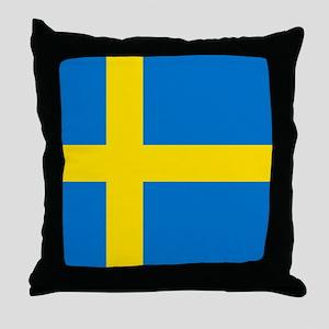 Square Swedish Flag Throw Pillow
