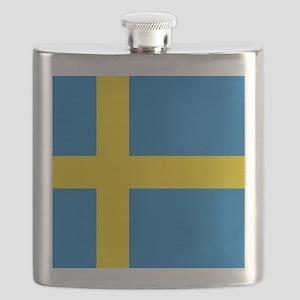 Square Swedish Flag Flask