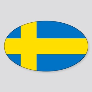 Square Swedish Flag Sticker