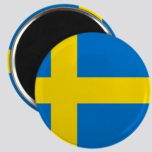 Square Swedish Flag Magnets