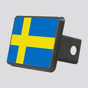 Square Swedish Flag Rectangular Hitch Cover
