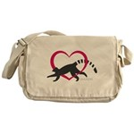 Lemur Love Logo Messenger Bag