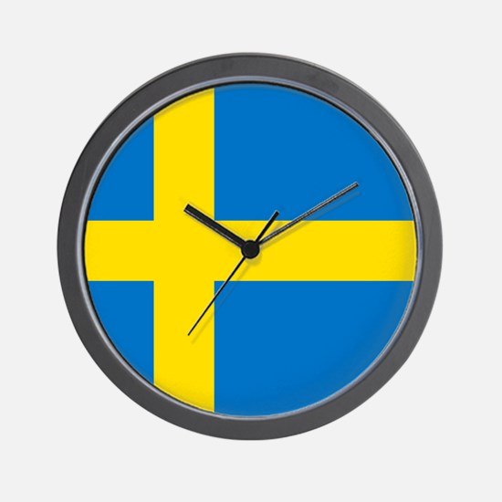 Square Swedish Flag Wall Clock