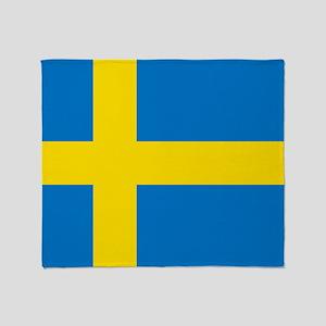 Square Swedish Flag Throw Blanket