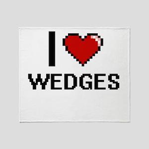 I love Wedges digital design Throw Blanket