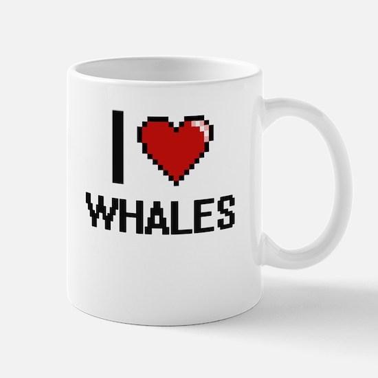 I love Whales digital design Mugs