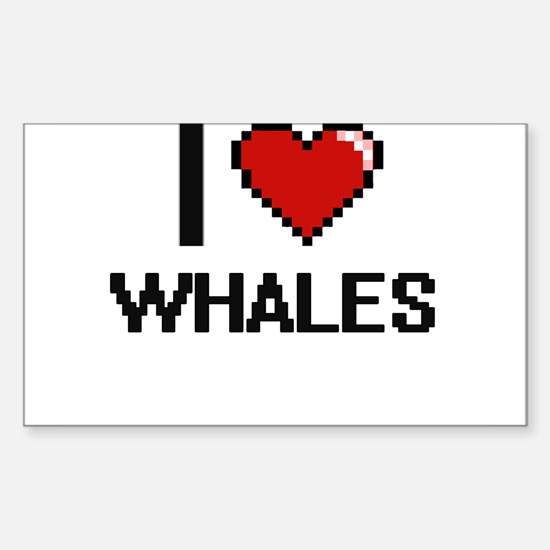 I love Whales digital design Decal