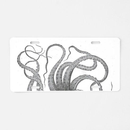 octopus  tentacles kraken n Aluminum License Plate