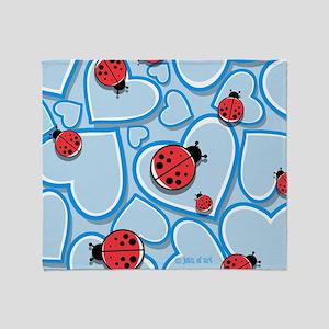 Ladybugs Throw Blanket