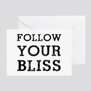 Follow Bliss Greeting Card