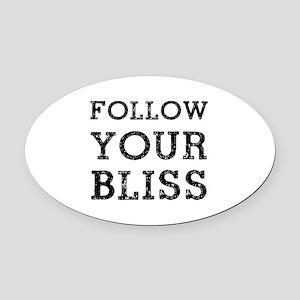 Follow Bliss Oval Car Magnet