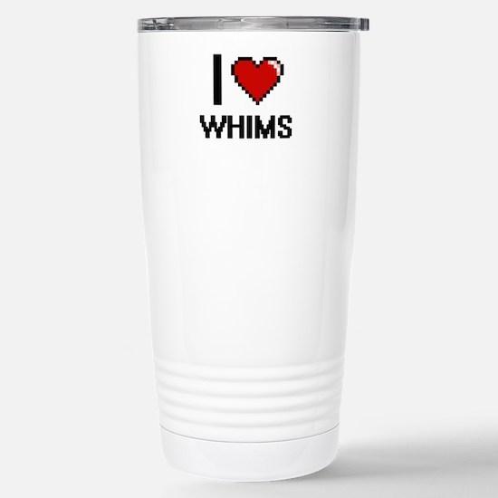 I love Whims digital de Stainless Steel Travel Mug