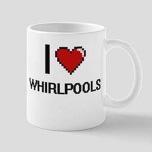 I love Whirlpools digital design Mugs