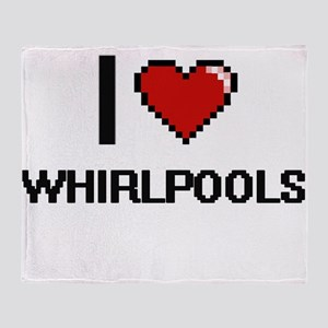 I love Whirlpools digital design Throw Blanket
