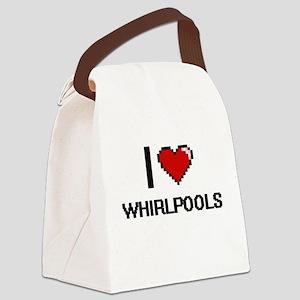 I love Whirlpools digital design Canvas Lunch Bag