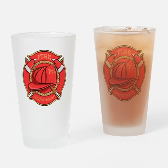 Firefighter Badge Drinking Glass