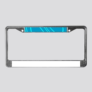 Chic Abstract Blue Hues Sky Dy License Plate Frame