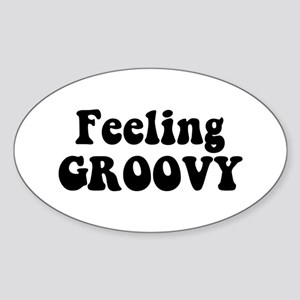 Feeling Groovy Sticker (Oval)