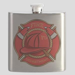 Firefighter Badge Flask