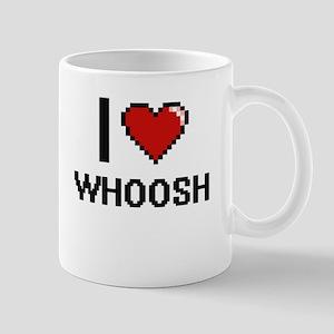 I love Whoosh digital design Mugs