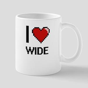 I love Wide digital design Mugs