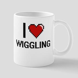 I love Wiggling digital design Mugs