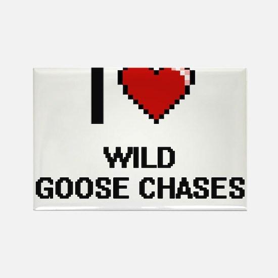 I love Wild Goose Chases digital design Magnets