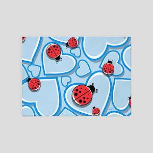 Ladybugs 5'x7'Area Rug