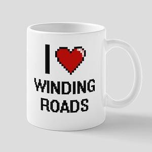 I love Winding Roads digital design Mugs