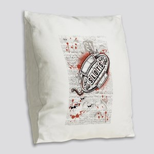 Slots Burlap Throw Pillow
