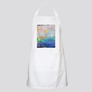 opal gemstone iridescent mineral bling bokeh Apron