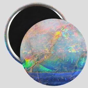 opal gemstone iridescent mineral bling boke Magnet
