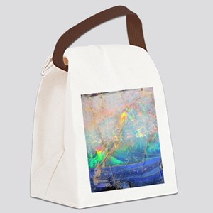 opal gemstone iridescent mineral  Canvas Lunch Bag